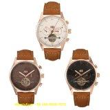 Relógio automático elegante do movimento do OEM com couro para os homens Fs589
