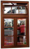 Окно Casement PVC/UPVC раковины 65 с рыцарем мостообразным