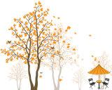Peinture à l'huile bon marché de modèle de configuration de fleurs de jaune de décoration de maison des prix