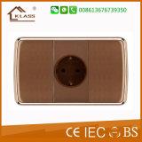 Interruptor da parede da potência do cartão da inserção da pintura de Brown do PC