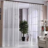 Tissu fin de rideau de type en voile solide de toile moderne de coton (17F0087)