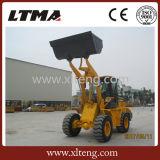 La Chine Wholesale 2 tonnes mini chargeuse à roues avec godet 1.2cbm