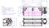 90x300mm Motor del ventilador de flujo transversal para el calentador radiante instalación