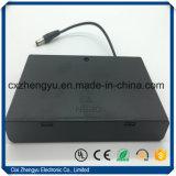 sostenedor de batería 8AA con los terminales de componente, la cubierta y el interruptor de alambre del enchufe de la C.C.