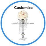 Candelabro de cristal único de la boda de flores decoración de la Mesa piezas centrales