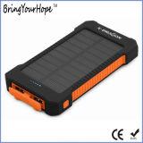 Côté imperméable à l'eau de l'énergie 8000mAh solaire avec les ports USB duels (XH-PB-168)