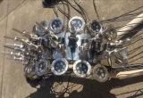 Новый фонтан воды нот формы павлина нержавеющей стали