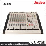 Amplifier/USB 8ohms/200W*2에 의하여 강화되는 오디오 믹서를 가진 Jb-806 12 채널 통신로