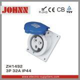 IP44 Slopping 3p 32A pour l'industrie embase à montage panneau