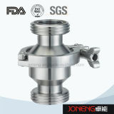 Задерживающий клапан струбцины нержавеющей стали санитарным зажатый телом (JN-NRV1006)