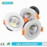 아래로 LED 가벼운 7W 옥수수 속에 의하여 중단되는 램프 백색 알루미늄 바디 Dimmable