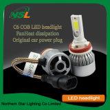 LED 헤드라이트 C6 금은 자동 차에 기관자전차를 적용한다