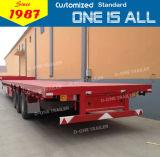Fabbricazione 2016 che vende il rimorchio del camion della base piana degli assi 20FT di programma di utilità 3