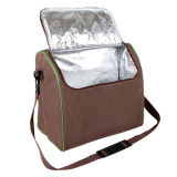 Bolsa de piquenique de ombro para 4 pessoas com compartimento de refrigerador