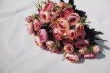 결혼식 훈장 도매업자를 위한 가짜 꽃이 고품질에 의하여 인공적인 로즈 꽃이 핀다