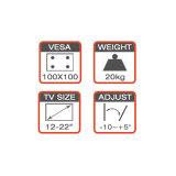 Ajuste de montagem de componente DVD / AV para 12-22 ''