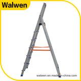 2 M versterkte de Binnenlandse Vouwende Ladder van het Aluminium met Veilig Spoor