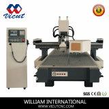 Muebles de madera CNC maquinaria para la madera con cambiador de herramientas automático (VCT-CCD1530atc)