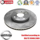 Rotor de frein à disque pour l'ensemble de frein automobile de Nissans