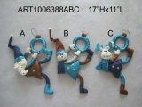 Kerstman, Deurknop van de Decoratie van Kerstmis van de Sneeuwman en van Amerikaanse elanden, 3 Asst