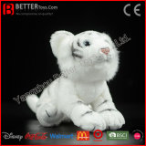 Jouet blanc de tigre de peluche de tigre de peluche molle réaliste du jouet En71