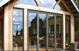 Puerta de plegamiento de aluminio de la mejor calidad/puerta de plegamiento de cristal