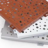 El panel perforado de aluminio suspendido acústico