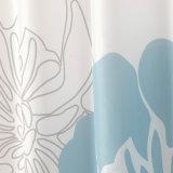 100%Poliéster banho à prova impressa a cortina do chuveiro (01S0012)