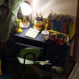 Mini mobilia di legno in giocattolo della sala di studio DIY