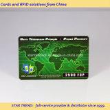 Rubbelplastikkarte mit Barcode für wiederaufladbare Karte