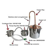Kingsunshine 10L/3gal steuern kupfernen Kappen-Spiritus-wesentliche Öl-DestillierapparatMoonshine noch mit Thump-Faß automatisch an