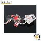 Lettre personnalisée en anglais personnalisée, porte-clés en métal rempli de couleur