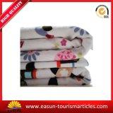 Manta de lã de tecido de flanela de poli poliéster impresso