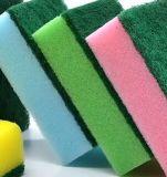 磨くパッドのスポンジ、クリーニングのための台所スポンジ、使い捨て可能な台所スポンジ