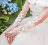 Lace Long Fingerless Wedding Accessory nupcial Party Wedding Luvas (Dream-100088)