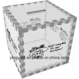 Fábrica acrílica de Shenzhen da caixa de dinheiro da alta qualidade