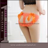 Hol zie uit door het g-Koord van de Dames van het Kant het Sexy Ondergoed van de Leren riem (TJS001)