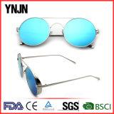 Óculos de sol reflexivos redondos do metal do Ce FDA com seu logotipo