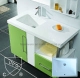 O banheiro de Cupc afunda a mão cerâmica da lavagem de Retangular da alta qualidade sob a bacia Sn018 da montagem