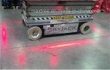 Lumière de sûreté rouge du chariot élévateur DEL de zone de sûreté d'entrepôt avec la ligne faisceau