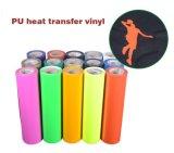 Vinyle orange de Trtansfer de la chaleur de découpage de qualité pour le T-shirt