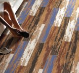 Mattonelle di ceramica di legno delle mattonelle di pavimento della porcellana di sguardo di nuovo stile di disegno retro (blu)
