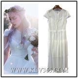 Vestido de partido longo branco do cocktail do baile de finalistas do casamento do verão da forma para mulheres