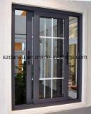 La taille classique de la Chine a personnalisé le double modèle en bois en verre de porte de portes coulissantes