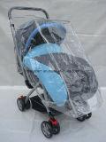 Landau européen de bébé de pli avec la couverture et la moustiquaire de pied