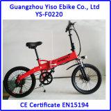 Mini vélo de poche électrique pliable avec 36V 250W 20 pouces