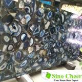 Diferentes Formas Irregulares Hermoso Azul Ágata Natural Mármol Losa
