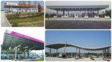 Niedrige Kosten fabrizierten helles Anzeigeinstrument-Stahlzoll/Tankstelle-Dach vor