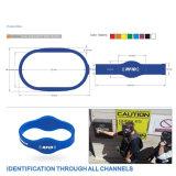 Wristbands compatíveis passivos das microplaquetas +Tk4100 dois de RFID 1 K