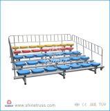 Bleacher стадиона крытых Bleachers гимнастики Retractable складывая